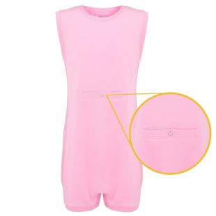 KayCey Super Soft Body Suit - Sleeveless with Tube Access - PINK from